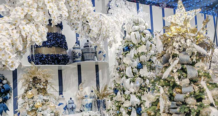 With more than 50 fully-decorated Christmas trees that you can pluck your favorite ornament right off of, there is no grander Christmas display in the country