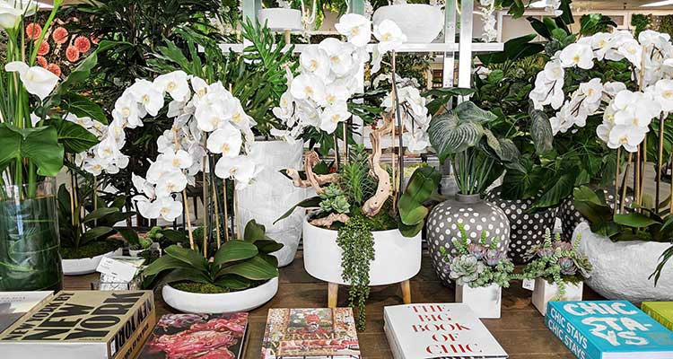 Featuring the most gorgeous silk orchids in the business, Aldik Home's collection of silk flowers is unparalleled
