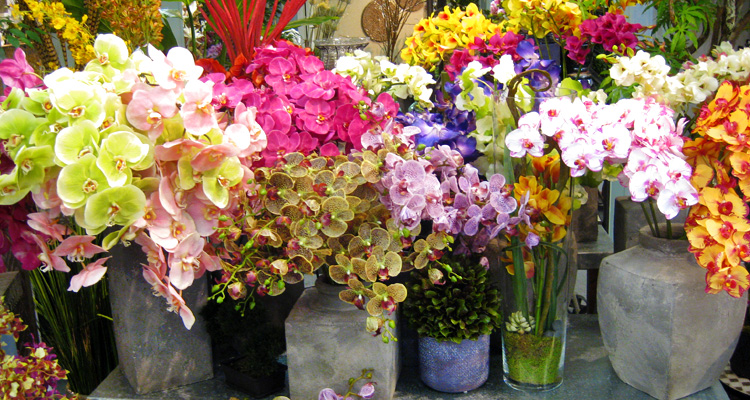 Silk flowers and plants los angeles showroom aldik home look no further than aldik home if youre looking for the best quality silk flowers in los angeles our 24000 square foot showroom is filled to the brim mightylinksfo