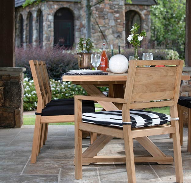 Looking for Teak patio furniture? Look no further than Aldik Home's collection of Summer Classics Teak furniture.