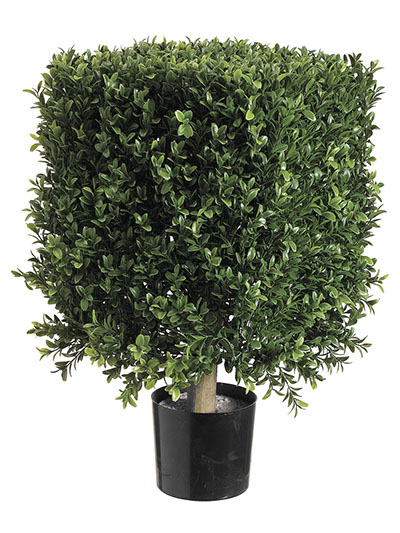 Aldik Home's Incredibly Realistic Silk Plants - Boxwood Square Topiary