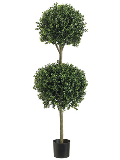 Aldik Home's Lush Silk Plants - Boxwood Topiary Double Ball
