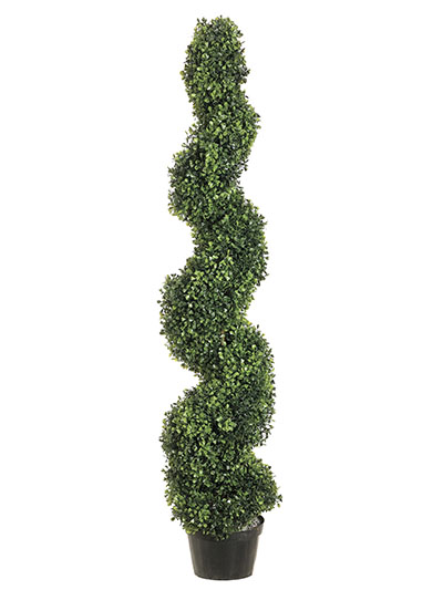 Aldik Home's Incredibly Realistic Silk Plants - Boxwood Spiral Topiary