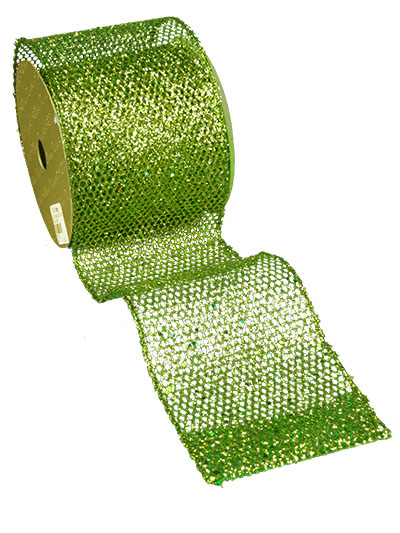 Aldik Home's Luxurious Ribbon - Glittered Mesh