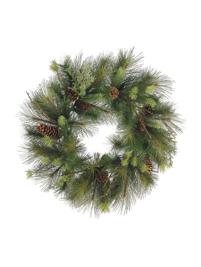 Aldik Home's Wonderful Wreaths & Garlands - Berry Pine Cone Wreath