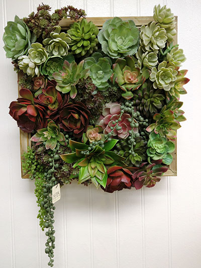 Aldik Home's Stunning Silk Floral Arrangements - Succulent in Wood Box