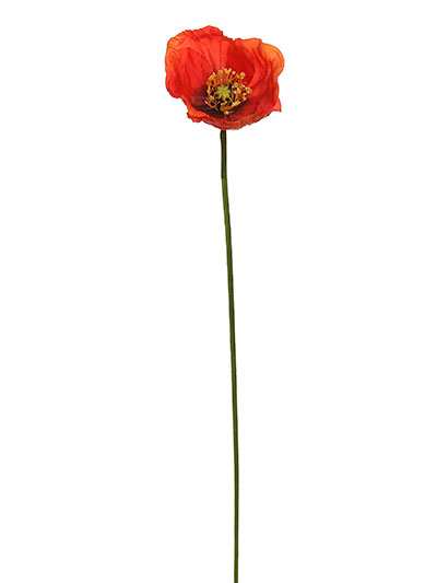Aldik Home's Realistic Silk Flowers - Poppy