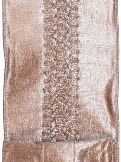 Aldik Home's Luxurious Ribbon - Embroidered Metallic Dupioni