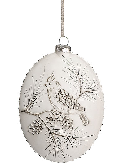 Aldik Home's Eclectic Christmas Ornaments - Pine Cone Glass