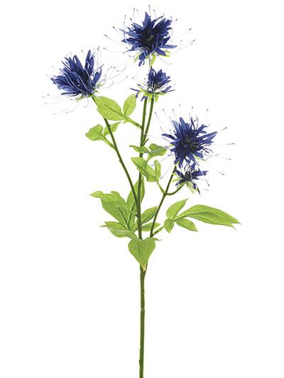 Silk flowers blue gallery flower decoration ideas silk flowers bee balm stem 27 in purple blue aldik homes realistic silk flowers bee balm mightylinksfo