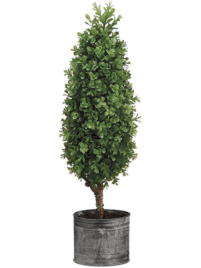 Aldik Home's Incredibly Realistic Silk Plants - Boxwood Cone Topiary