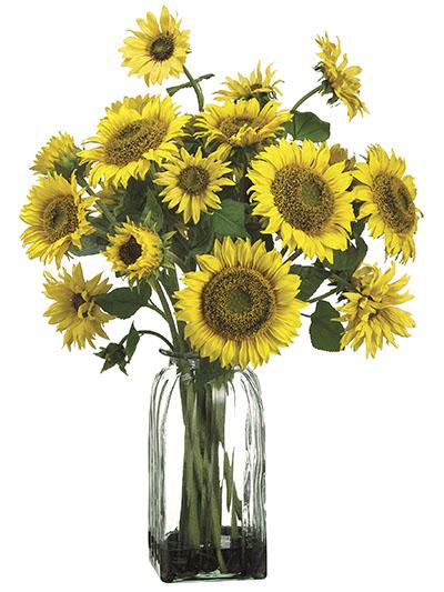 Silk flowers sunflower arrangement in