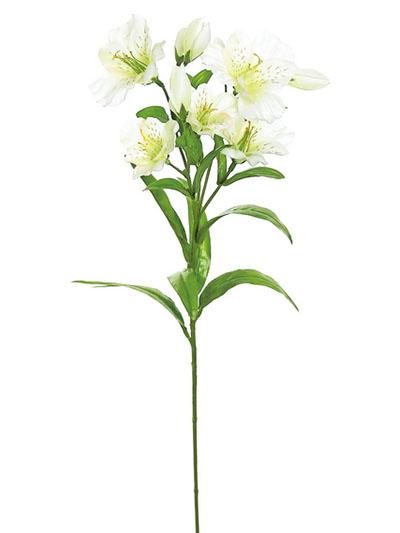 Silk flowers alstromeria 25 in cream aldik homes realistic silk flowers alstromeria mightylinksfo