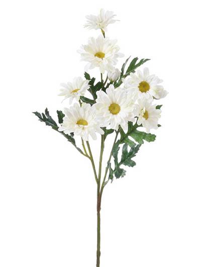 Silk flowers daisy 25 in white aldik homes realistic silk flowers daisy stem mightylinksfo