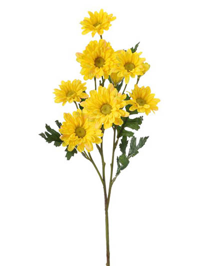 Silk flowers daisy 25 in yellow yellow aldik homes realistic silk flowers daisy stem mightylinksfo
