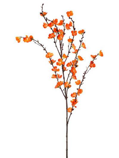 Silk flowers sakura blossom 50 in orange aldik homes realistic silk flowers sakura blossom mightylinksfo