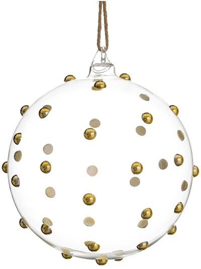 Aldik Home's Eclectic Christmas Ornaments - Beaded Ball