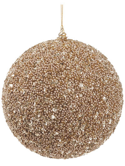 Christmas Trees Floral  Decor  Ball Glitter Orn 118 in Rose Gold