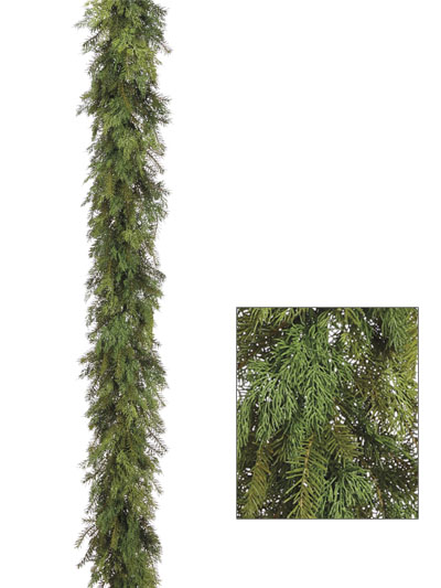 Aldik Home's Wonderful Wreaths & Garlands - Cedar Pine Garland