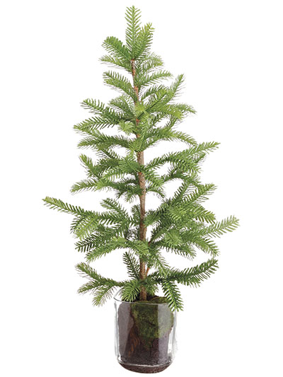 Aldik Home's Festive Christmas Decor - Pine Tree with Glass