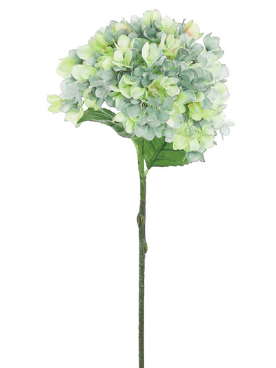 Silk flowers hydrangea grand 27 in green yellow aldik homes realistic silk flowers grand hydrangea mightylinksfo