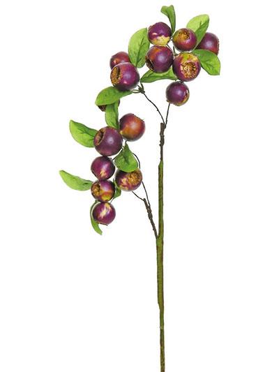 Silk flowers berry pick 20 in plum green aldik homes realistic silk flowers berry pick mightylinksfo Choice Image