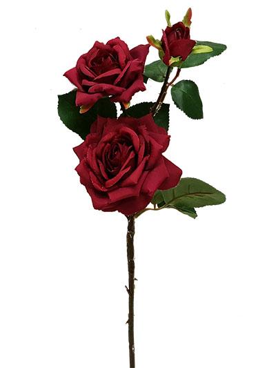 Silk roses rose stem 20 in red aldik homes realistic silk flowers rose stem mightylinksfo