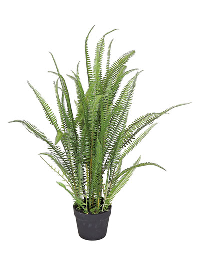 Aldik Home's Realistic Silk Plants - Potted Fern Plant