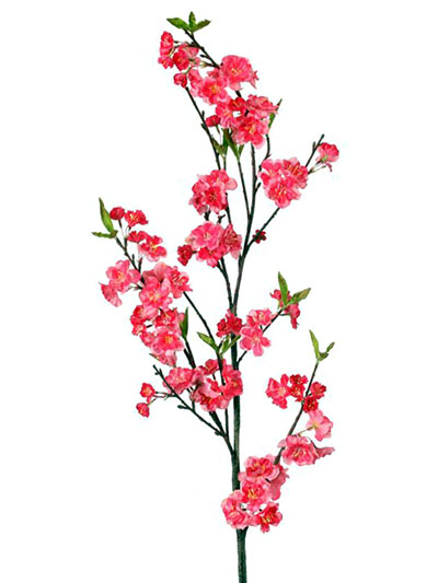 Aldik Home's Realistic Silk Flowers - Cherry Blossom Branch