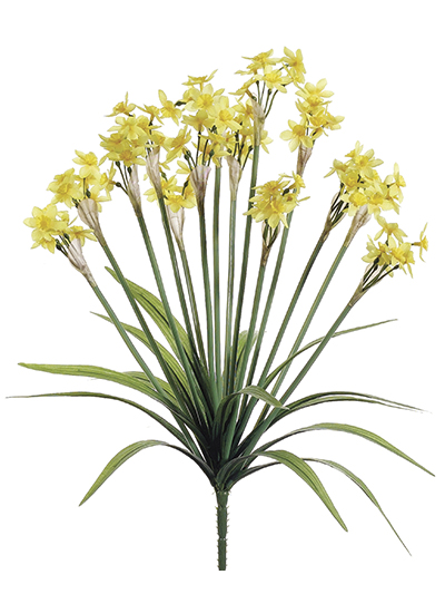 Aldik Home's Realistic Silk Flowers - Narcissus Bush