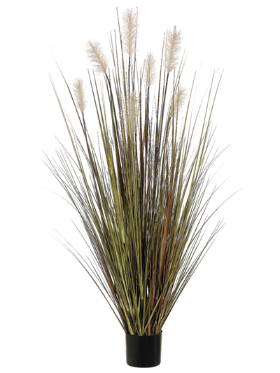 Aldik Home's Realistic Silk Plants - Potted Pampas Grass