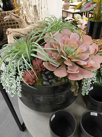 Aldik Home's Stunning Silk Floral Arrangements - Succulents in Recycle Planter