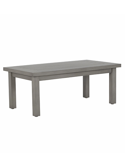Aldik Home's Summer Classics Patio Furniture Floor Samples - Club Aluminum Rectangular Coffee Table