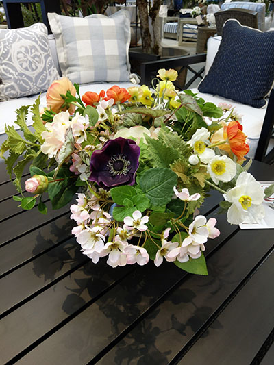Aldik Home's Stunning Silk Floral Arrangements - Mixed Floral in Gold Pot