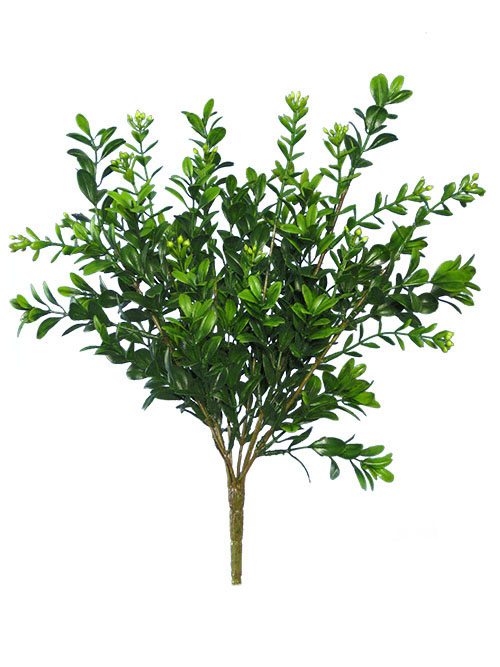 Aldik Home's Realistic Silk Plants - Boxwood Bush Mini