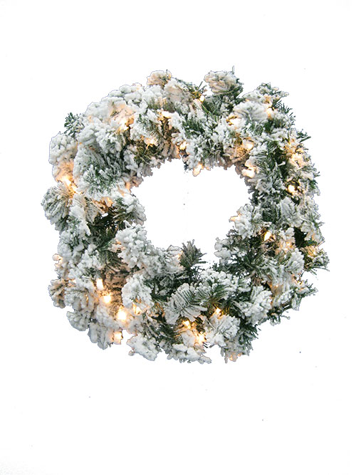 Aldik Home's Wonderful Wreaths & Garlands - Flocked Norway Pine Wreath