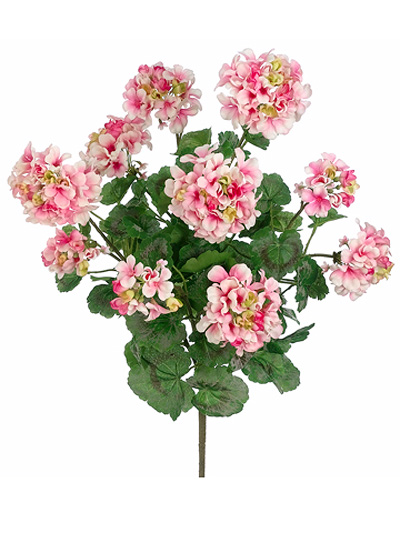 Flowering bushes geranium bush 24 in pink aldik homes realistic silk flowers geranium bush mightylinksfo