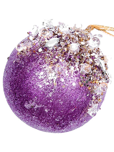 Aldik Home's Eclectic Christmas Ornaments - Jeweled Ball