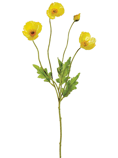 Aldik Home's Incredibly Realistic Silk Flowers - Poppy Stem