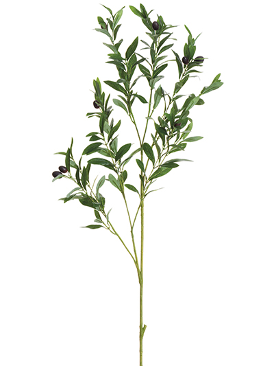 Aldik Home's Realistic Silk Plants - Olive Stem