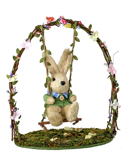 Aldik Home's Lovely Easter Decor - Bunny On Swing
