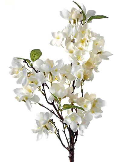 Apple Blossom Spray 25 in. White