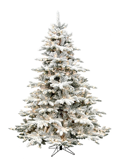 Artificial Christmas Tree.Deluxe Flocked Arctic 9 Feet