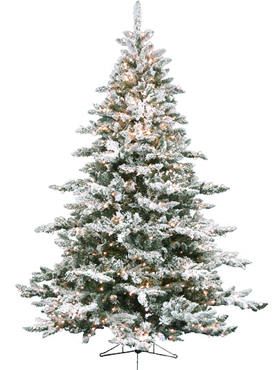 Aldik Home's Premium Artificial Christmas Trees - Deluxe Flocked Arctic