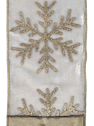 Aldik Home's Luxurious Ribbon - Velvet Snowflake