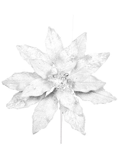 Aldik Home's Festive Christmas Ornaments - Jeweled Poinsettia