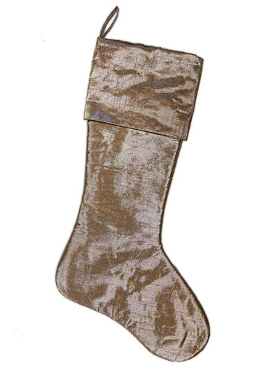 Aldik Home's Festive Christmas Decor - Metallic Dupioni Stocking