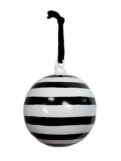Aldik Home's Eclectic Christmas Ornaments - Glass Stripe Orn
