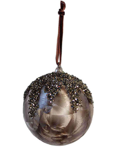 Aldik Home's Eclectic Christmas Ornaments - Glass Sequin Top