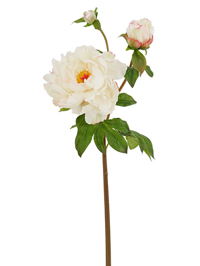 Aldik Home's Realistic Silk Flowers - Peony Natural Touch